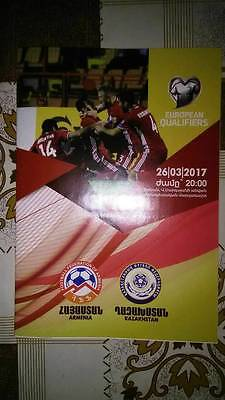 ARMENIA v KAZAKHSTAN 26 March 2017 Q WC-2018 in Russia official RARE