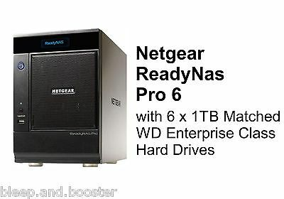 Netgear ReadyNas Pro 6 NAS with 6 x 1TB WD Matched Enterprise Drives. RNDP6000