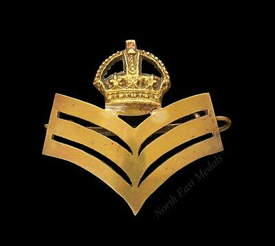 British Army RQMS Brass Chevrons Arm Badge / Wrist Strap badge
