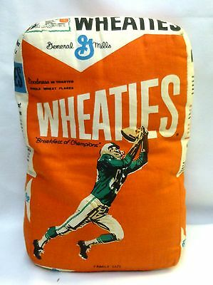 Vintage Wheaties Football Cereal Box Shaped Pillow 1960's Mail-Away Premium
