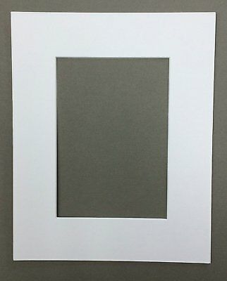 16x20 White Picture Mats Mattes Matting with White Core Bevel Cut for 11x14 Pict