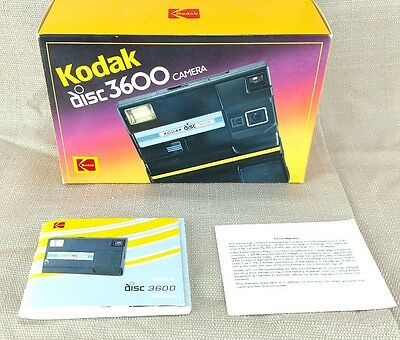 Kodak disc camera 3600 Fully Tested and Working in Original Box with Manual