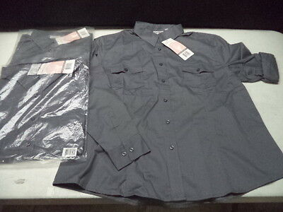 3 - Chef Works Grey Dress Shirts 2XL