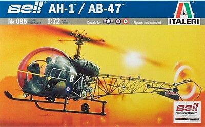 Italeri 1/72 AH-1/AB-47 Light Helicopter Plastic Model Kit ITA0095