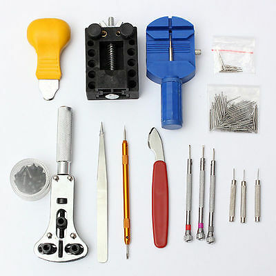 144Pcs Watch Repair Tool Kit Back Case Opener Remover Spring Pin Bar
