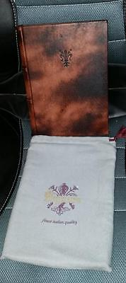 Unique Epica Signum Gift Log Address Book Italian Distressed Leather in Case NOS