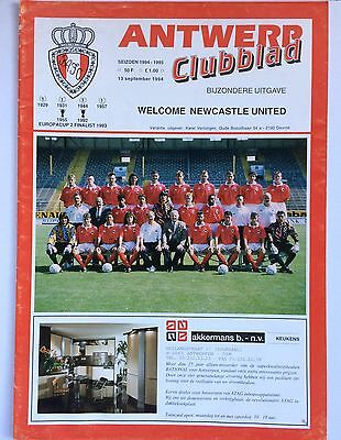 Antwerp v Newcastle United 1994-95 UEFA Cup Programme