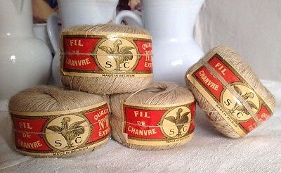 Vintage French Bobbin, Metallic Blue Thread Antique Reel / ONE Spool Embroidery