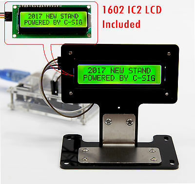 Green Serial IIC/I2C/TWI 1602 16X2 Character LCD LED Display & Stand For Arduino