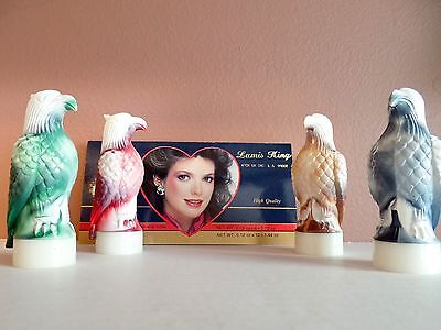RARE Lamis King Lipstick 5 pc lot EAGLE Hawk FIGURAL NEW Old Stock MARBLED Cases