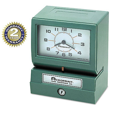 Model 150 Analog Automatic Print Time Clock With Month/date/0-23 Hours/minutes-A