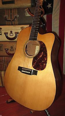 2001 Martin DC-16GTE Acoustic Electric w/ Cutaway Guitar Natural w/ Case Nice!