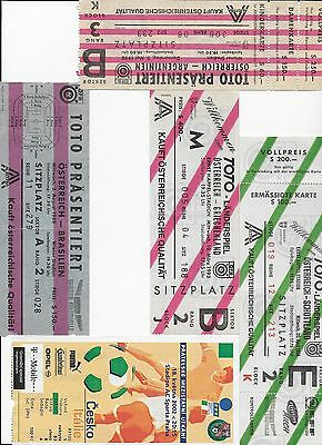 TICKET 1990 Austria v Argentina Football International