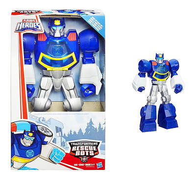 Playskool Transformers Rescue Bots Chase The Police-Bot Figure Hasbro A8305