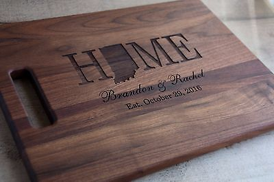 Personalized Cutting Board Chopping Block State Shape Design FREE SHIPPING