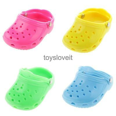 """Pairs of 4 Rubber Beach Sandals Shoes for 18"""" American Girl Doll Accessories"""