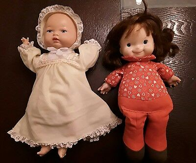 Lot of 2 Vintage Dolls 1973 Fisher Price Audley Doll, and 1986 Playmates Doll