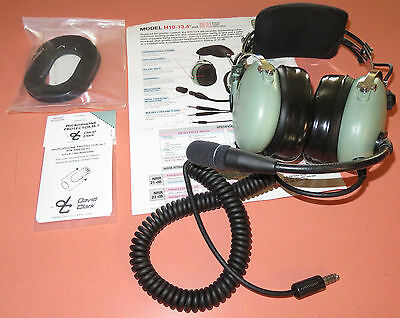 David Clark Headset H10-13-H with adaptors for GA and new seals