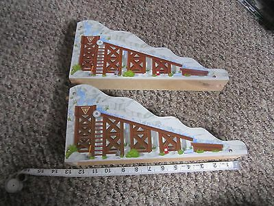 Thomas the Train Wooden Bridge Incline Decline Lot from Gold Mine Mountain set