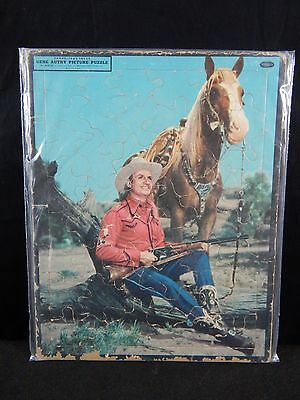 Vintage Gene Autry #4428:29 Frame-Tray Picture Puzzle, Whitman Publishing