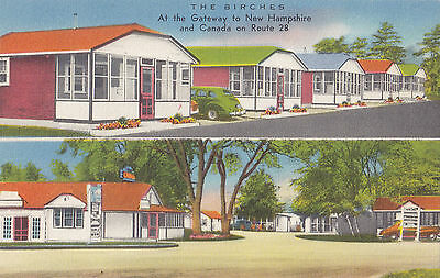 The Birches Cabins & Trailer Park SALEM New Hampshire USA Advertising Postcard