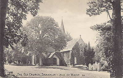 The Old Church SHANKLIN Isle of Wight England UK 1909 Ideal Series Postcard 83