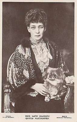 Her Late Majesty QUEEN ALEXANDRA Photo Downey Beagles Real Photo Postcard 855U