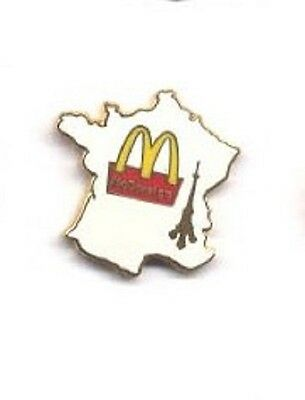 Paris France Country Shaped Map Eiffel Tower French McDonalds Restaurant Pin