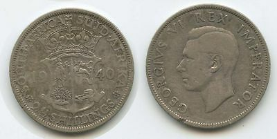 G1307 - Südafrika 2½ Shillings 1940 KM#30 Silber George VI. South Africa