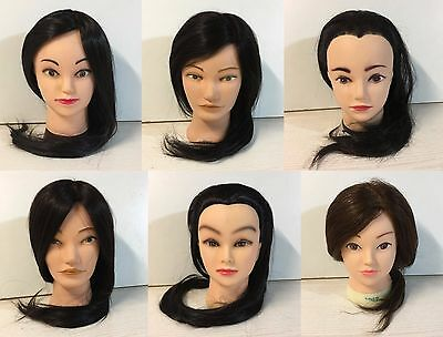 Human Hair Salon Hairdressing cosmetology Mannequin Practice Training Head Doll