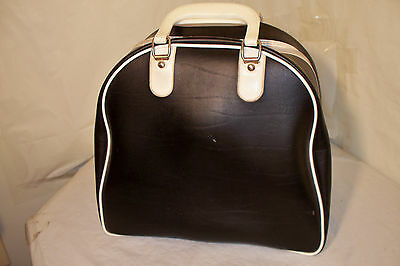 Vintage Black & White Colored One Ball Bowling Bag