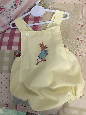 Peter Rabbit Baby Toddler Romper Suit Clothes  Lemon Or Apple Green Holiday Sun