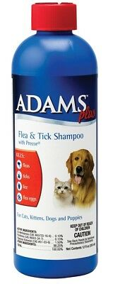 Farnam Adams Plus Flea and Tick Shampoo with Precor for Dogs and Cats 12 oz