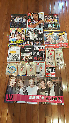 Huge One Direction Memorabilia Lot / T Shirts, Mag, Books And More !!!