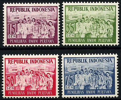 Indonesia 1955 SG#699-702 Elections MH Set #D51013