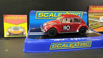 ** SALE** REDUCED - Scalextric Slot Car Volkswagen Beetle Red C3484