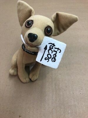 "APPLAUSE 6"" Yo Quiero Taco Bell Stuff Talking Chihuahua Dog w/ Taco Sign"