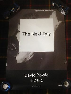 David Bowie 'The Next Day' OFFICIAL PRE-RELEASE PROMO POSTER  50cm x 70cm