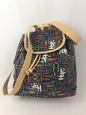Hope Black Mini Backpack Orange Pink Blue White Carry Bag Vegan