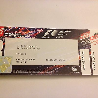 2017 Silverstone F1 Race Day General Admission
