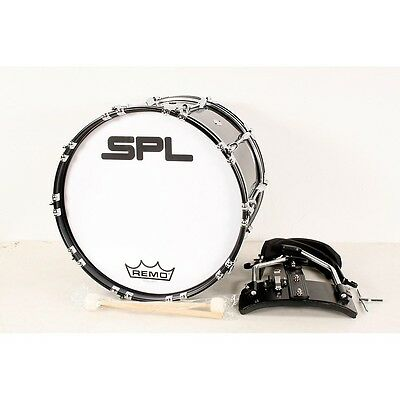 Sound Percussion Labs Birch Marching Bass Drum w/ Carrier 20x14 Blk 190839046543