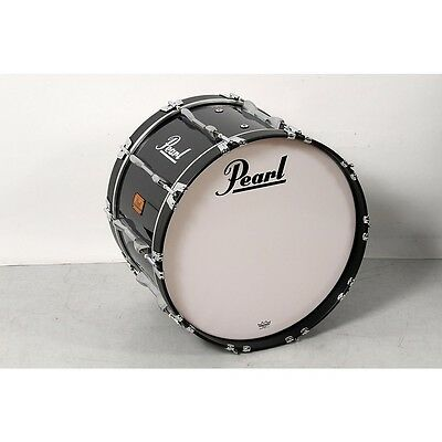 Pearl 22x14 Championship Series Marching Bass Drum Midnight Black 190839078797