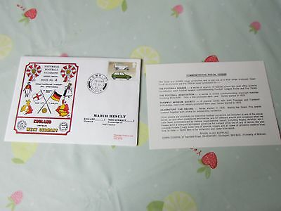 ENGLAND v WEST Germany 1982 International Match Wembley FOOTBALL First Day Cover