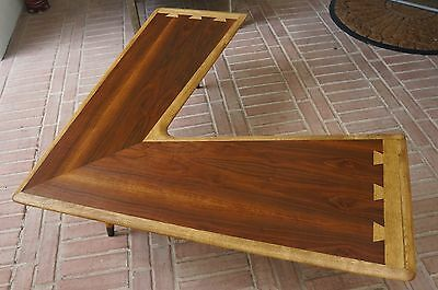 Mid Century Modern Lane Acclaim Walnut Boomerang Coffee Table Rare