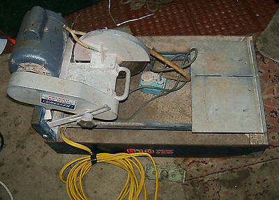 Felker Wet Tile Saw  810 The Tile King  USA Heavy Duty w Tray / tub, Pump USA