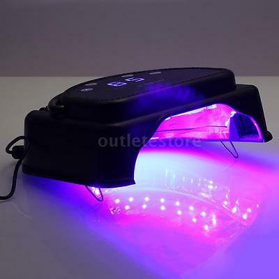 Anself 64W 32pcs LED Nail Dryer Gel Curing Lamp Machine With Lifting Handle I4L0