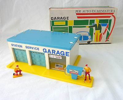 Ancien Rare Station Service Garage - Jouets KAD France 50 / 60s -Vintage French