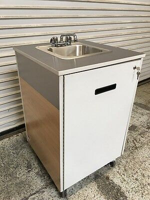 Portable Hand Wash Sink Station w/ Hot Water Heater #6527 Commercial NSF Pump