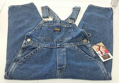 New OSHKOSH Denim Overalls 100% Cotton VESTBAK Size 6 ~ Free S&H!*