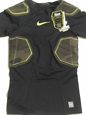 Nike Pro Combat Hyperstrong Compression Shirt Youth Sz M Football Black Camo NWT